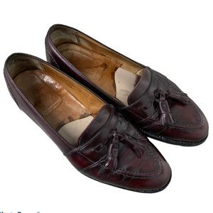 Alden brown tassel leather Loafers size 9/10 Italy